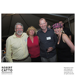 Barrie Osborne;Jean Johnston;Michael Garlick;Delia Shanly at the Launch of the Bruce McLaren Movie project at the A1 Grand Prix of New Zealand, Taupo, New Zealand.
