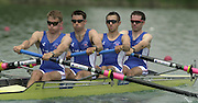 2003 - FISA World Cup Rowing Milan Italy.30/05/2003  - Photo Peter Spurrier.GBR LM 4= (B) Ben Webb, Tim Male, Mark Hunter and Nick English. [Mandatory Credit: Peter Spurrier:Intersport Images]