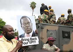 HARARE, Nov. 18, 2017  People attend a rally to express support for the military in Harare, Zimbabwe.  (Credit Image: © Shawn Jusa/Xinhua via ZUMA Wire)