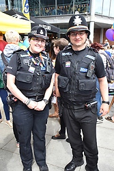 Police at Pride 2017, Norwich UK, 29 July 2017