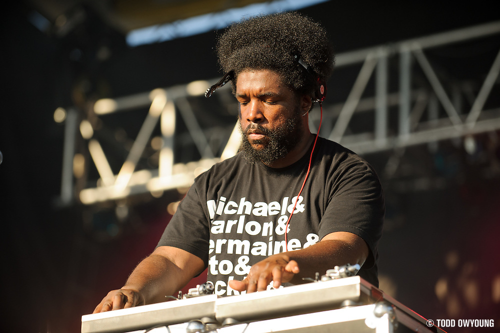 Questlove of the Roots performing a DJ set at the LouFest Music Festival in St. Louis on August 27, 2011