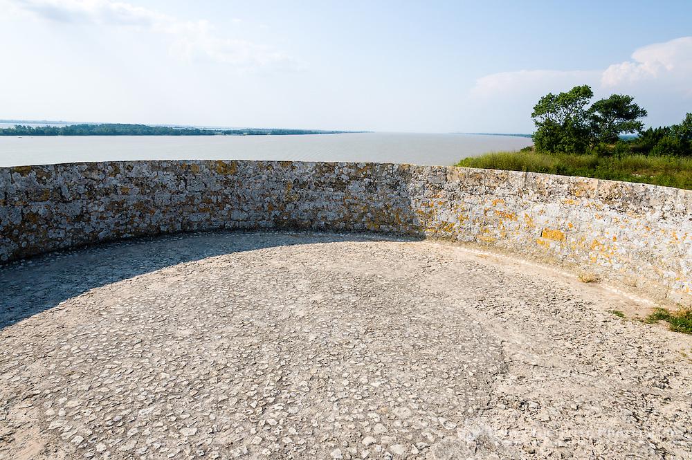 France, Blaye. The Citadel of Blaye at the Gironde estuary.