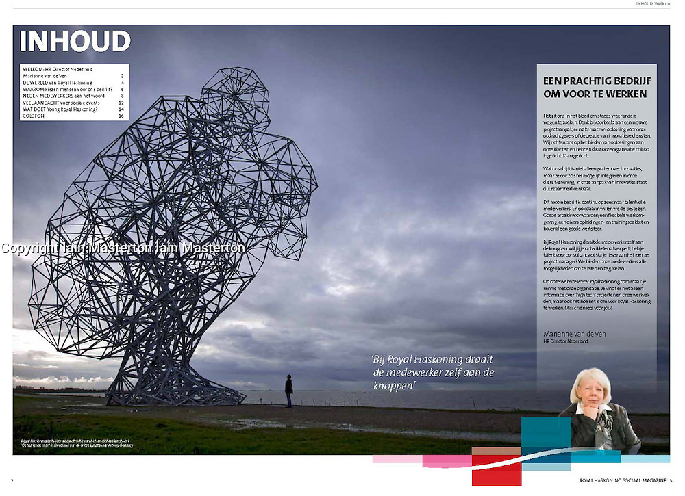 Exposure sculpture by Antony Gormley in The Netherlands