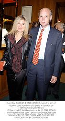 The HON.CHARLES & MRS HAMBRO, he is the son of banker Lord Hambro, at a party in London on 15th October 2002.PEC 6