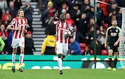 Stoke City's Mame Biram Diouf celebrates scoring his side's first goal