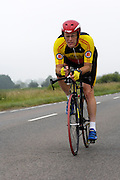 UK, Chelmsford, 28 June 2009: WAYNE GREVE (V) SHAFTESBURY.C.C. completed the E9 / 25 course in 1 hour 7 mins 17 secs. Images from the Chelmer Cycle Club's Open Time Trial Event on the E9 / 25 course. Photo by Peter Horrell / http://peterhorrell.com .