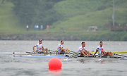 Chungju, South Korea. GBR LM2X.  Lightweight Men's Double Sculls. Bow, Richard CHAMBERS and Peter CHAMBERS. Finish area.  2013 World Rowing Championships, Tangeum Lake, International Regatta Course. 10:52:33  Thursday  29/08/2013 [Mandatory Credit. Peter Spurrier/Intersport Images]
