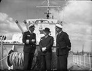German Frigate on Courtesy, Visit, to, Dublin, Port, 5th July, 1961