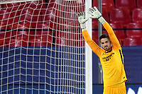 SEVILLE, SPAIN - DECEMBER 02: Alfonso Pastor of FC Sevilla  during the UEFA Champions League Group E stage match between FC Sevilla and Chelsea FC at Estadio Ramon Sanchez-Pizjuan on December 2, 2020 in Seville, Spain. (Photo by Juan Jose Ubeda/MB Media)