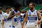 Akele Nicola, Chillo Matteo<br /> De'Longhi Treviso Basket - Acqua S.Bernardo Cantù<br /> Legabasket Serie A UnipolSAI 2020/2021<br /> Treviso (TV), 18/11/20<br /> Foto Michele Brunello / Ciamillo-Castoria <br /> Esultanza
