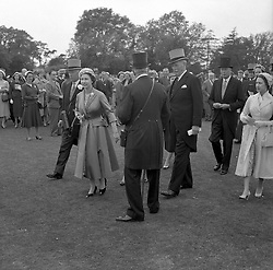 HM The Queen Elizabeth II at The Derby with The 16th Duke of Norfolk at Epsom Racecourse on 5th June 1957