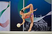 Anna Pellegrini from Rhytmic School team during the Italian Rhythmic Gymnastics Championship in Padova, 25 November 2017
