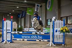 Gardeyn Giara, BEL, Kasanova van't Heike<br /> Nationaal Indoor Kampioenschap Pony's LRV <br /> Oud Heverlee 2019<br /> © Hippo Foto - Dirk Caremans<br /> 09/03/2019