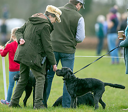 Princess Royal with her son Peter Phillips and grand-daughter Isla at the Land Rover Gatcombe Horse Trials on her Gloucestershire estate.