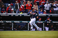 The Seattle Mariners defeated the Cleveland Indians 7-2 on April 29, 2008 at Progressive Field in Cleveland..Grady Sizemore of Cleveland scores a run.