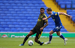 Mark Little of Bristol Rovers passes the ball under pressure from Stephen Ward of Ipswich Town - Mandatory by-line: Arron Gent/JMP - 05/09/2020 - FOOTBALL - Portman Road - Ipswich, England - Ipswich Town v Bristol Rovers - Carabao Cup