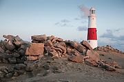 Portland Bill lighthouse, Cornwall, England, UK