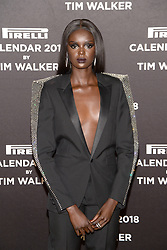 Duckie Thot attends the photocell for The Pirelli 2018 Calendar by Tim Walker Launch Press Conference at the Pierre Hotel in New York, NY, on November 10, 2017. (Photo by Anthony Behar/Sipa USA)