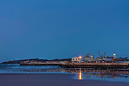 Harbour of Essaouira before sunrise, Morocco.