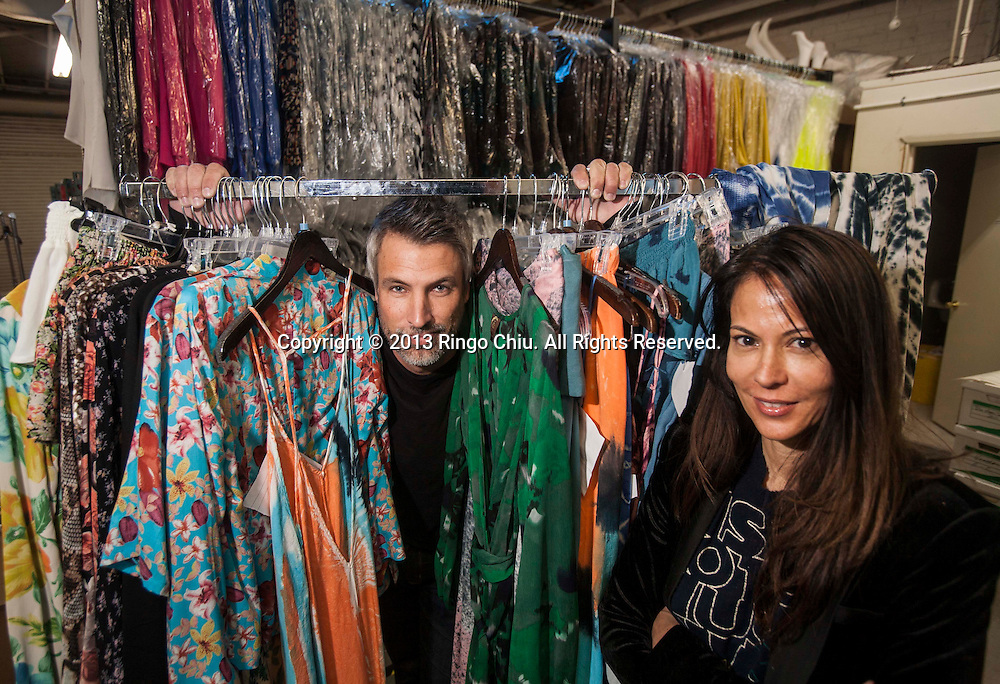 James Williams(L), CEO, and Ling-Su Chinn, founder and president of Planet Blue in Santa Monica. (Photo by Ringo Chiu/PHOTOFORMULA.com).