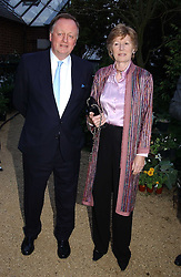 ANDREW & ROSEMARY PARKER BOWLES at the annual Cartier Flower Show Diner held at The Physics Garden, Chelsea, London on 23rd May 2005.<br />
