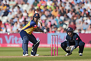 Cameron Delport of Essex Eagles batting during the Vitality T20 Finals Day 2019 match between Derbyshire Falcons and Essex Eagles at Edgbaston, Birmingham, United Kingdom on 21 September 2019.