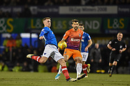 Portsmouth Midfielder, Adam May (30) with a shot at goal during the EFL Sky Bet League 1 match between Portsmouth and Northampton Town at Fratton Park, Portsmouth, England on 30 December 2017. Photo by Adam Rivers.
