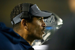 Nevada head coach Jay Norvell  watches his team take on California during the first quarter of an NCAA college football game, Saturday, Sept. 4, 2021, in Berkeley, Calif. (AP Photo/D. Ross Cameron)