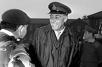 Sir Geoffrey Baker, Chief of the General Staff, British Army, United Kingdom, meets a soldier during a visit to N Ireland. 1971010117GB2.<br /> <br /> Copyright Image from Victor Patterson, 54 Dorchester Park, Belfast, UK, BT9 6RJ<br /> <br /> t1: +44 28 9066 1296<br /> t2: +44 28 9002 2446<br /> m: +44 7802 353836<br /> <br /> e1: victorpatterson@me.com<br /> e2: victorpatterson@gmail.com<br /> <br /> www.victorpatterson.com<br /> <br /> IMPORTANT: Please see my Terms and Conditions of Use at www.victorpatterson.com
