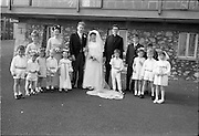 """16/09/1967<br /> 09/16/1967<br /> 16 September 1967<br /> Wedding of Mr Francis W. Moloney, 28 The Stiles Road, Clontarf and Ms Antoinette O'Carroll, """"Melrose"""", Leinster Road, Rathmines at Our Lady of Refuge Church, Rathmines, with reception in Colamore Hotel, Coliemore Road, Dalkey."""