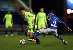 Tom Nichols of Peterborough United gets past Sam Hird of Chesterfield - Mandatory by-line: Joe Dent/JMP - 14/03/2017 - FOOTBALL - The Proact Stadium - Chesterfield, England - Chesterfield v Peterborough United - Sky Bet League One