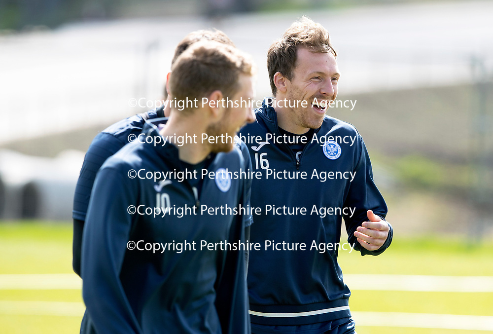 St Johnstone Training…04.05.18<br />David McMillan pictured during training this morning at McDiarmid Park<br />Picture by Graeme Hart.<br />Copyright Perthshire Picture Agency<br />Tel: 01738 623350  Mobile: 07990 594431