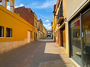 21 March 2020 - one week into lockdown. Empty streets in Sant Cugat del Valles, a normally bustling city of some 90,000 people outside Barcelona, a week after Spain exerted a state of Emergency to deal with the spread Coronavirus. Spain is one of the worst affected countries. Schools and retail businesses are closed, except for supermarkets and pharmacies.