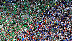 Republic of Ireland fans and French fans  - Mandatory by-line: Joe Meredith/JMP - 26/06/2016 - FOOTBALL - Stade de Lyon - Lyon, France - France v Republic of Ireland - UEFA European Championship Round of 16