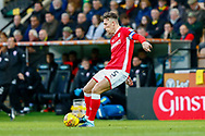 Barnsley defender Angus MacDonald (5) during the EFL Sky Bet Championship match between Norwich City and Barnsley at Carrow Road, Norwich, England on 18 November 2017. Photo by Phil Chaplin.