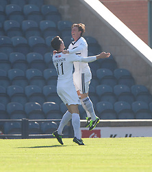 Raith Rovers Grant Anderson (11) cele scoring their goal.<br /> Half time : Raith Rovers 1 v 0 Falkirk, Scottish Championship 28/9/2013.<br /> ©Michael Schofield.