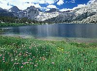 Rae Lake along the John Muir Trail, California.