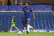 Richard Nartey of Chelsea (48) dribbling during the EFL Trophy match between U21 Chelsea and AFC Wimbledon at Stamford Bridge, London, England on 4 December 2018.