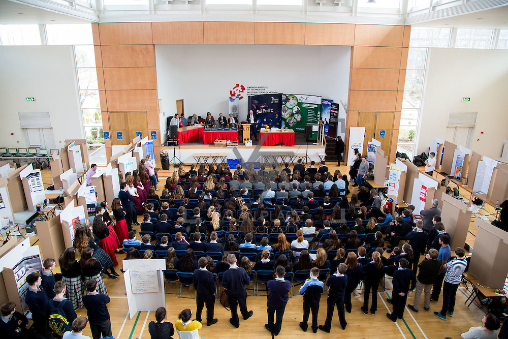27.04.2016.          <br />  Kalin Foy and Ciara Coyle win SciFest@LIT<br /> Kalin Foy and Ciara Coyle from Colaiste Chiarain Croom to represent Limerick at Ireland's largest science competition.<br /> <br /> Pictured at the event were, .<br /> <br /> Of the over 110 projects exhibited at SciFest@LIT 2016, the top prize on the day went to Kalin Foy and Ciara Coyle from Colaiste Chiarain Croom for their project, 'To design and manufacture wireless trailer lights'. The runner-up prize went to a team from John the Baptist Community School, Hospital with their project on 'Educating the Youth of Ireland about Farm Safety'. Picture: Fusionshooters