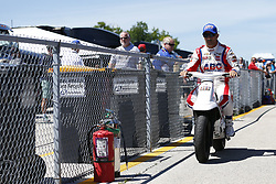 June 23, 2018 - Elkhart Lake, Wisconsin, United States of America - TONY KANAAN (14) of Brazil prepares to take to the track to qualify for the KOHLER Grand Prix at Road America in Elkhart Lake, Wisconsin. (Credit Image: © Justin R. Noe Asp Inc/ASP via ZUMA Wire)