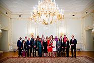 Koningin Maxima houdt donderdag 12 april op Paleis Noordeinde in aanwezigheid van Hare Koninklijke H