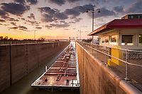 The US Army Corps of Engineers operates the Port Allen Lock which connects the Mississippi River to the Intracoastal Waterway. The lock was constructed in 1961 by the U.S. Army Corps of Engineers to replace the historic Plaquemine Lock.