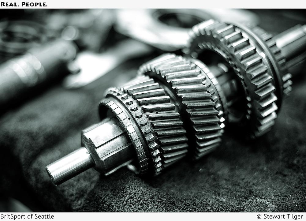 Morgan Moss box gearbox mainshaft and gears.