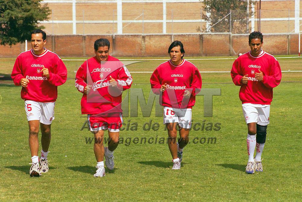 Metepec, Méx. Entrenamiento del club deportivo Toluca previo al  partido que sostendràn con la escuadra de los Pumas de la UNAM el pròximo domingo. Agencia MVT/ Marco A. Castro