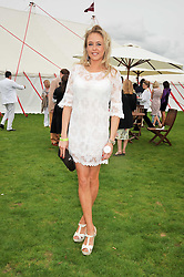 LADY ALEXANDRA SPENCER-CHURCHILL at the 25th annual Cartier International Polo held at Guards Polo Club, Great Windsor Park, Berkshire on 26th July 2009.