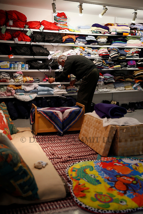 Salvation Army warehouse for Migrants and refugees  off Victoria Square in Athens, Greece.<br /> Photo: Darrin Zammit Lupi