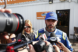 November 12, 2017 - Avondale, Arizona, United States of America - November 12, 2017 - Avondale, Arizona, USA: Jimmie Johnson (48) speaks to the media after being released from medical after being involved in a wreck during the Can-Am 500(k) at Phoenix Raceway in Avondale, Arizona. (Credit Image: © Justin R. Noe Asp Inc/ASP via ZUMA Wire)