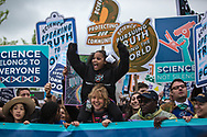 Little Miss Flint, whose real name is Mari Copeny and is known for writing former President Obama a letter about Flint's water, stands in the front line of those taking part in the March for Science in Washington, D.C.