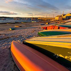 Skiffs at Pine Point in Scarborough, Maine.