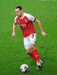 Chris Hussey of Cheltenham Town presses forward with the ball - Mandatory by-line: Nizaam Jones/JMP - 20/02/2021 - FOOTBALL - Jonny-Rocks Stadium - Cheltenham, England - Cheltenham Town v Bradford City - Sky Bet League Two